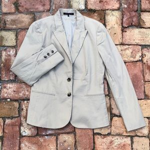 Theory light beige cream blazer fitted size 8